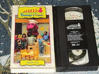 BARNEY & FRIENDS TIME LIFE~ALPHABET SOUP~VHS VIDEO TAPE DEREK KATHY