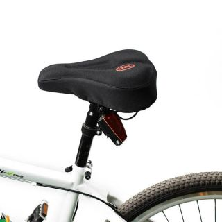 New Black Silicone Bike Bicycle Soft Gel Saddle Seat Cover Cushion Pad