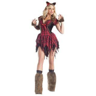 Werewolf Adult Womens Big Bad Wolf Corset Halloween Costume Std/Plus