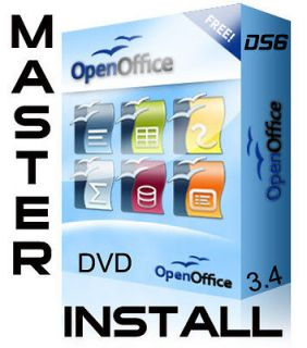 NEWEST APACHE OPEN OFFICE 3.4 MASTER INSTALL DVD, LINUX, MAC, WINDOWS
