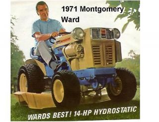 1971 Montgomery Ward 14 HP Lawn Tractor Magnet