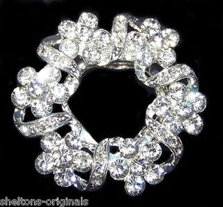 EXQUISITE SWAROVSKI CRYSTAL BROOCH or CLIP for JACKET, SHOES, DRESS