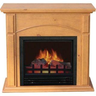 World Marketing Springdale Electric Fireplace Heater   Oak