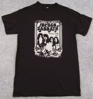 BLACK SABBATH World Tour 1978 T shirt Retro Ozzy Osbourne Black Adult