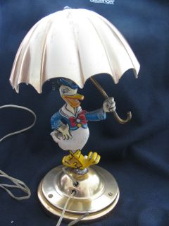 Scarce, Donald Duck themed table lamp, 1940s/50s.
