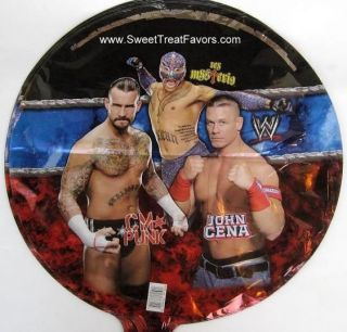 WWE WWF Wrestling Party Supplies BALLOONS Cena Favors Mylar Birthday