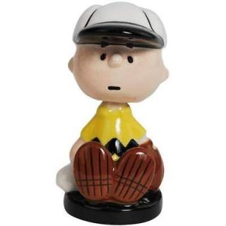 PEANUTS Charlie Brown Baseball Mini Bobble Figurine DISPLAY 2.5H