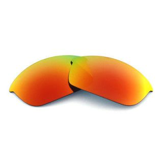 New WL Polarized Fire Red Replacement Lenses For Oakley Flak Jacket