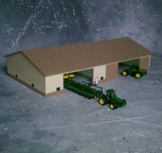 custom Farm Machine Shed 1/64 scale 70x130 tan/almond