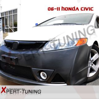 FRONT BUMPER W/ FOG+REAR LIP+SIDE SKIRT (Fits: Honda Civic EX 2007