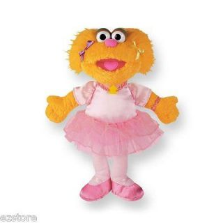 Sesame Street ZOE BALLERINA Ballet Gund Plush Doll Toy TV New Stuffed