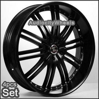24 Black(Matte) Wheels,Rims(Chevy Ford,escalade GMC)