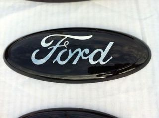 2004 11 Ford F 150 250 350 BLACK Tailgate/Grille Emblem,OEM, 9 by 3.5