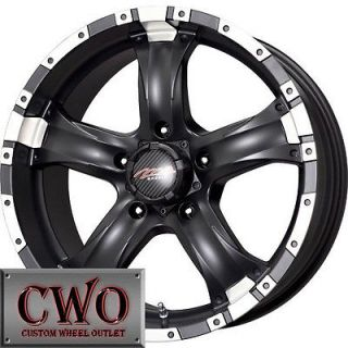 15 Black MB Chaos 5 Wheels Rims 5x127 5 Lug Chevy GMC C1500 Jeep