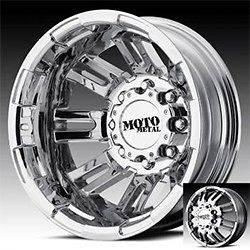 17 inch moto metal bright pvd dually wheels rims 8x6.5 silverado ram