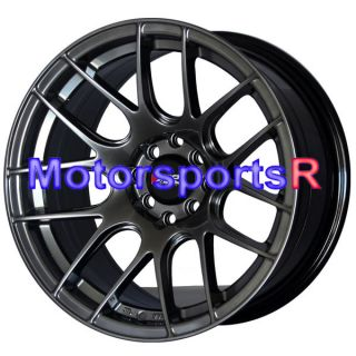 16 16x8 XXR 530 Chromium Black Concave Rims Wheels Stance 03 04 05 06