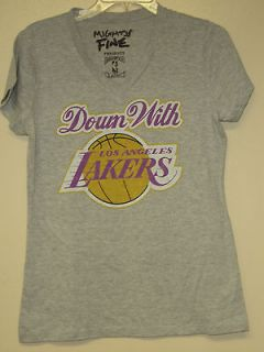 NBA Los Angeles Lakers Gray ( Down with Los Angeles Lakers ) Vintage T
