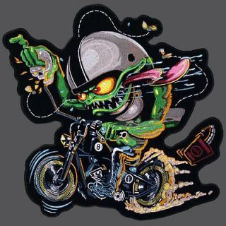 BOBBER MONSTER EMBROIDERED 12 INCH BIKER PATCH