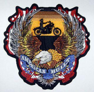 AMERICAN BUILT BIKER LARGE Motorcycle Vest BACK PATCH Biker Patches