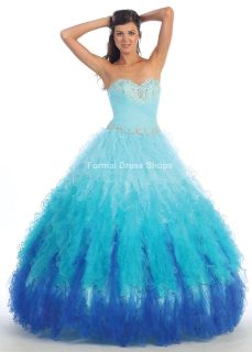 QUINCEANERA PAGEANT BLUE PINK MASQUEARADE BALL GOWN SWEET 16 DRESS
