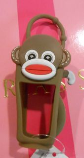 Bath & Body Works PocketBac Holder Brown Sock Monkey hand sanitizer