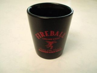One NEW Fireball whiskey ceramic shot glass. Letter E.