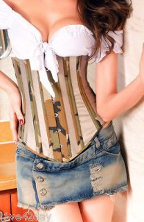 camo corset in Corsets & Bustiers