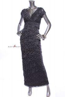 Tag $MARINA Women Cocktail Spangle Lace Beads Slit Maxi Dress Ink 8P