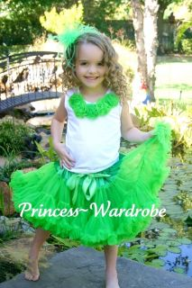 XMAS Bright Green FULL POSH Pettiskirt Skirt Party Dance Tutu Dress 4