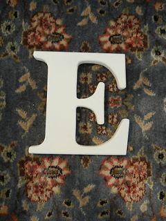 Pottery Barn Wall Letter E White 7 5/8 Nursery Baby Room Monogram
