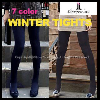 FLEECE lined TIGHTS thermal pantyhose warm winter womens ladies opaque