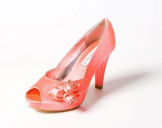 Her Best Kept Secret   Rosebud Coral Wedding/Prom Shoe