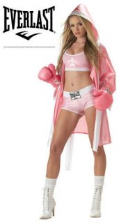 Sexy Pink Everlast Boxer Chick Women Sporty Costume