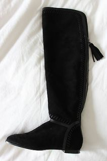 LOVE STORY CHIC***JIMMY CHOO WHIPSTITCHED FLAT MOCCASIN BOOTS*37.5