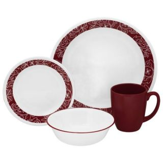 CORELLE 20pc BANDHANI Dinnerware Set DINNER LUNCH BREAD Plate Included