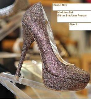 Steve Madden Girl Glitter Sparkle Carysaa Pump Caity 9 heel multi