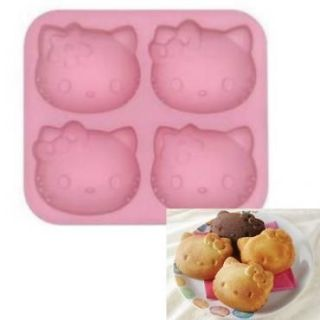 Hello Kitty Silicon Cup Cake Mold Chocolate Jelly Mould #1915