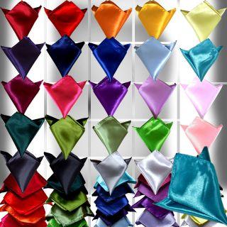 Stylish Italian square Satin Wedding Party pocket Hanky Handkerchief