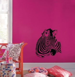 Zebra Decal Pattern Nursery Girls Room Decor Removable Animal #1149