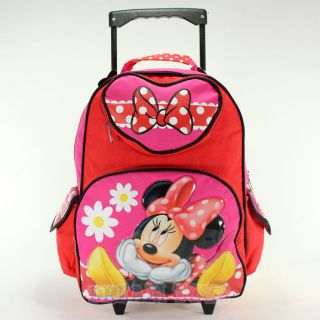 Minnie Mouse Daisy Roller 16 Large Backpack   Rolling Girls Bag
