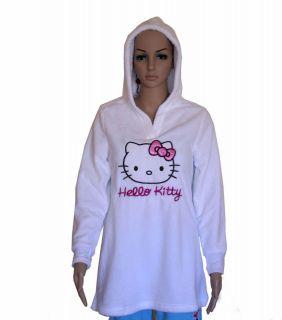 WHITE Hello Kitty Sleepwear Lounge Pull Over Hoodie Sweater Pajamas