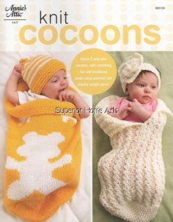Knit Cocoons Patterns Baby Knitting Cable Teddy Bear Headband Hat Cap
