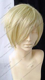 075 New Short Light Blonde Fashion Straight Wig