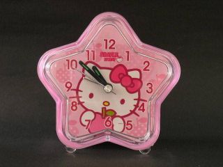 E22 HELLO KITTY PINK STAR SHARP ALARM CLOCK