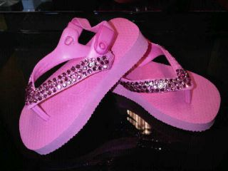 BABY HAVAIANAS FLIP FLOP WHITE & PINK AVALIABLE WITH SWAROVSKI