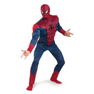 Mens Spiderman Costume Spider Man Suit New Movie Muscle DELUXE