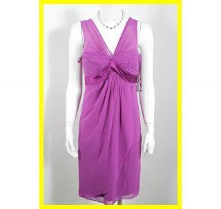 NEW DONNA RICCO Purple SILK Dress 4 NWT 5985 $119