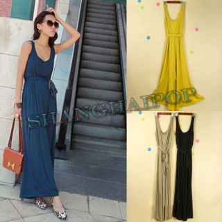 Women Jump Suit Dress Palazzo Pant Culottes Slack Trousers V Neck