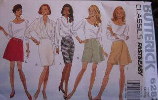 Butterick SEWING Pattern 6287 Misses Skirt Culottes 6 18 EASY OOP