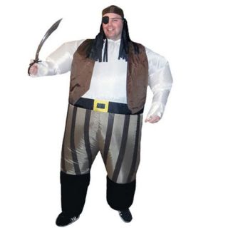 Inflatable Pirate Captain Sumo Party Suit Fancy Dress Hen Stag Costume